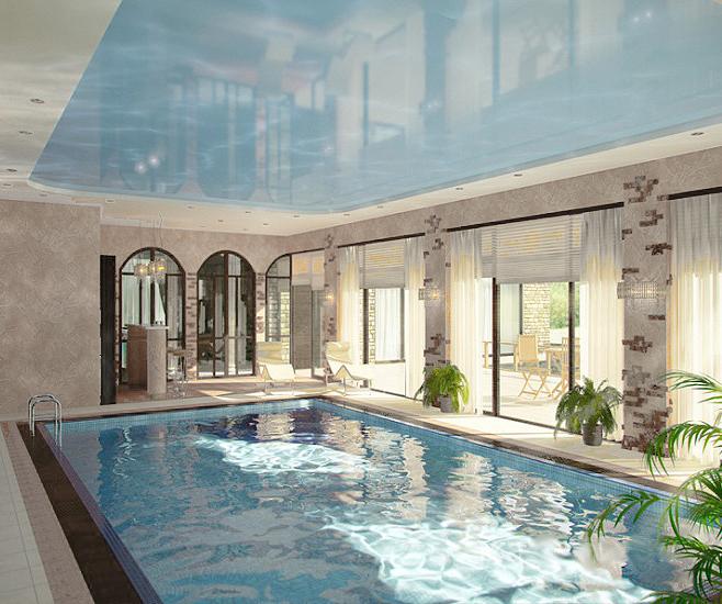 Дизайн бассейна в коттедже фото